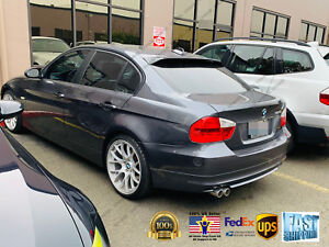 Details About For Bmw 3 Series 2006 2011 E90 Abs Black Rear Roof Window Visor Spoiler 3d Jdm