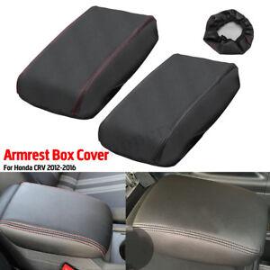 Car-Arm-Rest-Center-Armrest-Box-Cover-Protection-Leather-For-Honda-CRV-2012-2016