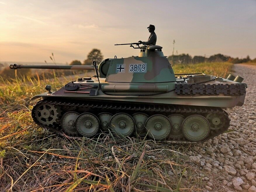 RC Kampfpanzer DEUTSCHER PANTHER G G G Schussfunktion ferngesteuerter Panzer NEU    Verschiedene Arten und Stile  d919f8
