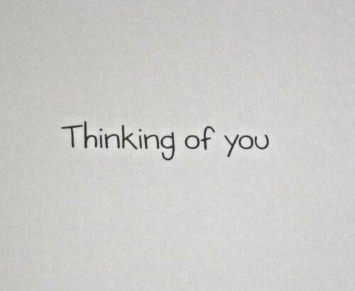 Choix de 5 thèmes. Fleur de thèmes Rêve PHOTOS gamme Thinking of You cartes