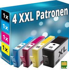 4x CHIP PATRONEN für HP-364XL  5510 5514 5515 5520 5522 5524 6510 6520 7510 7520