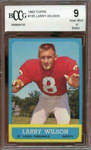 1963-topps-155-LARRY-WILSON-st-louis-cardinals-BGS-BCCG-9