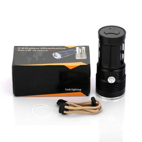 50000 Lumens XM-L T6 LED Strom Digitalanzeige Jagd Robust Haltbar Taschenlampe