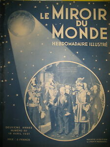 Pdt-DOUMERGUE-TUNISIE-SINGE-INTELLIGENT-LAUTREC-AU-LOUVRE-MIROIR-DU-MONDE-1931