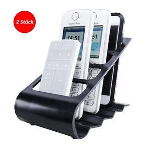 UPP Fernbedienung & Smartphone Handy Halter Ständer 2er Set schwarz