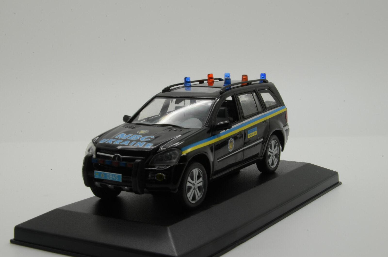 rara    Mercedes Linterna verde Ucrania coche de policía Hecho a Medida 1 43