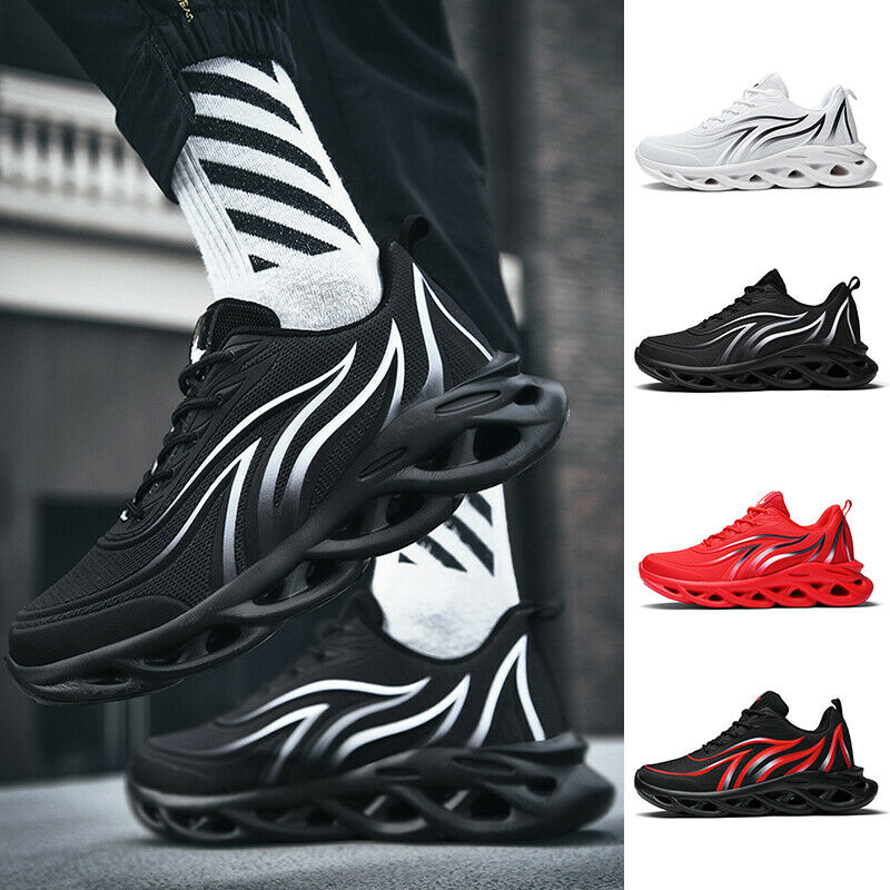 Men's Athletic Shoes Mesh Lace Up Breathable Sneakers Running Gym Casual Shoes