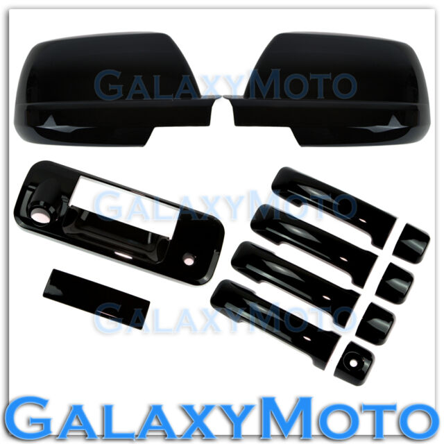 07-13 TOYOTA TUNDRA CREWMAX Black Mirror+4 Door Handle+Tailgate+Camera Hol Cover