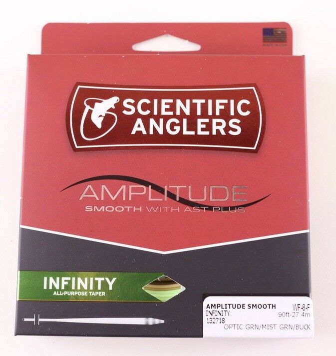 Scientific Anglers Amplitude Smooth Infinity WF8F Fly Line Optic FREE FAST SHIP