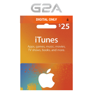 Details about iTunes Gift Card $25 USD Key - 25 Dollar US Apple Store Code  Digital Download