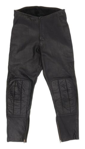 Vintage Padded Leather Motorcycle Pants 31x29 Mens