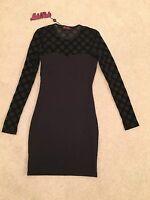Motel Rocks Black Bodycon Black Dress XS (size 8)