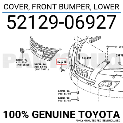 TOYOTA OEM 2018 C-HR Front Bumper Grille-Lower Cover 52129F4031