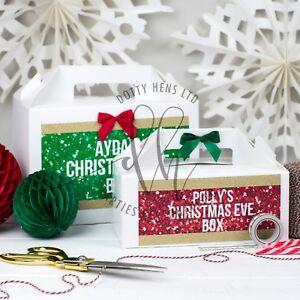 Personalizzato-la-vigilia-di-Natale-Sparkle-Glitter-regalo-Favore