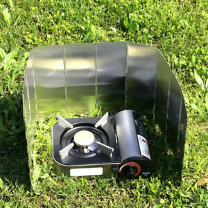 1PC-Plates-Wind-Camping-Stove-Windshield-Cooker-Foldable-Cooking-Gas-Screens-AU