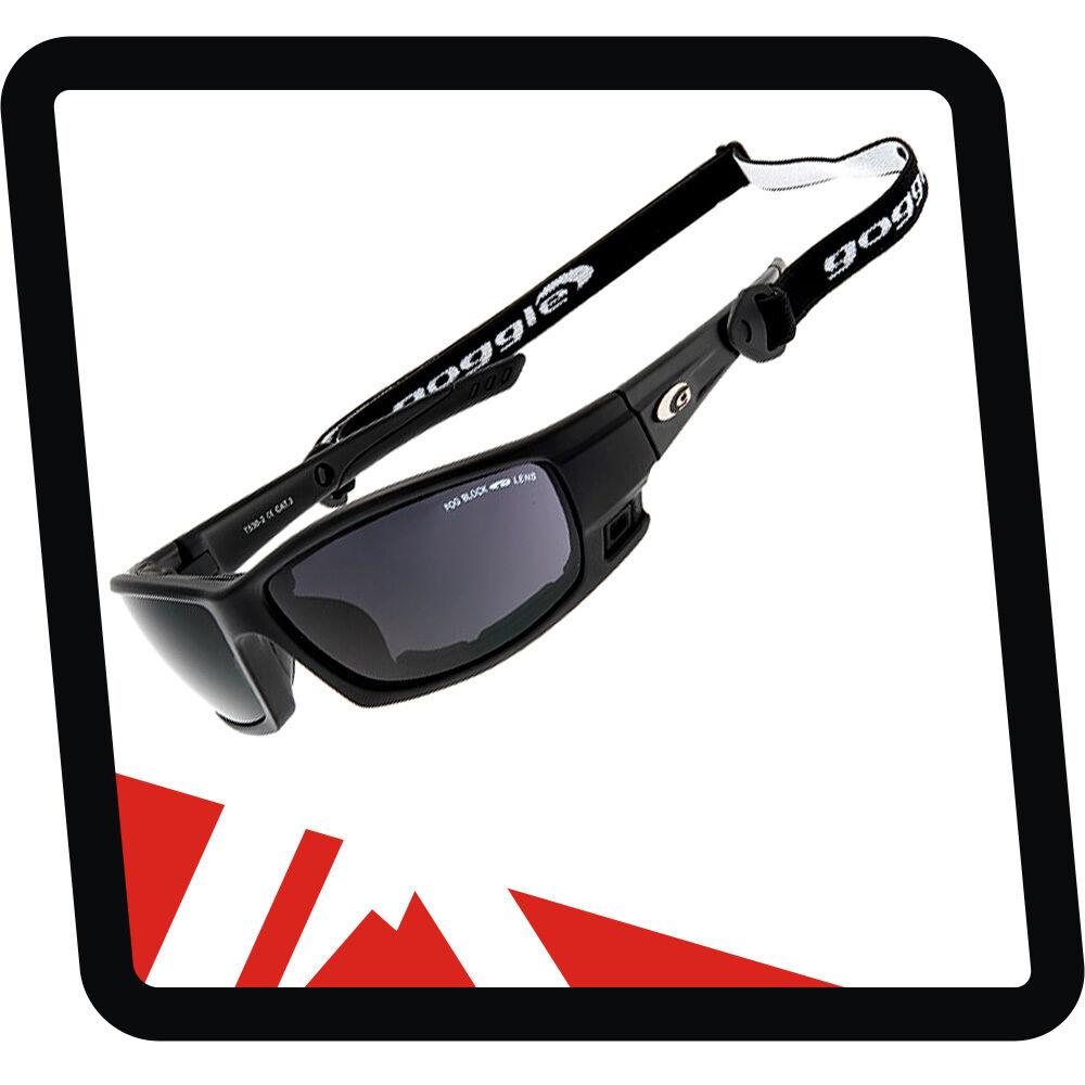 Goggle Gletscherbrille Gebirgsbrille mit Band und Windschutzpolsterung Kat. 4