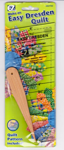"Easy Dresden Ruler Pack by Darlene Zimmerman 8/"" EZ Quilting"