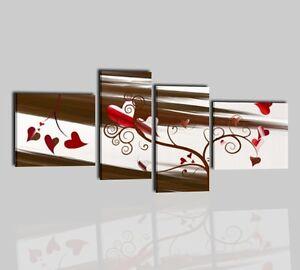 Quadri moderni componibili astratti dipinti a mano su tela for Quadri componibili moderni
