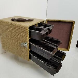 Vintage-GoldE-Product-Multi-Drawer-6-Slide-Carrying-Case-1930-1940s-Original