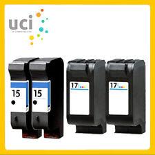 4 Compatible Ink Cartridge Replace For 15 17 Deskjet 816c 840C 843C 845C Printer