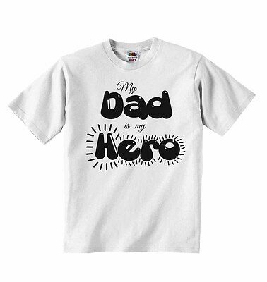 My Daddy is my Hero Baby Boys Girls T-shirt T shirt Tees Cute Soft Present