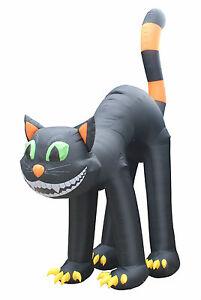 Halloween-Air-Blown-Inflatable-Yard-Blowup-Decoration-Jumbo-Size-Black-Cat-Decor