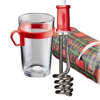 EHLERS Reisetauchsieder Glas-Becher 307 Reisen Urlaub Kochen Sieden Wasser NEU