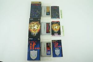 Shin Megami Tensei 1 2 if set SNES ATLUS Nintendo Super Famicom Box From Japan