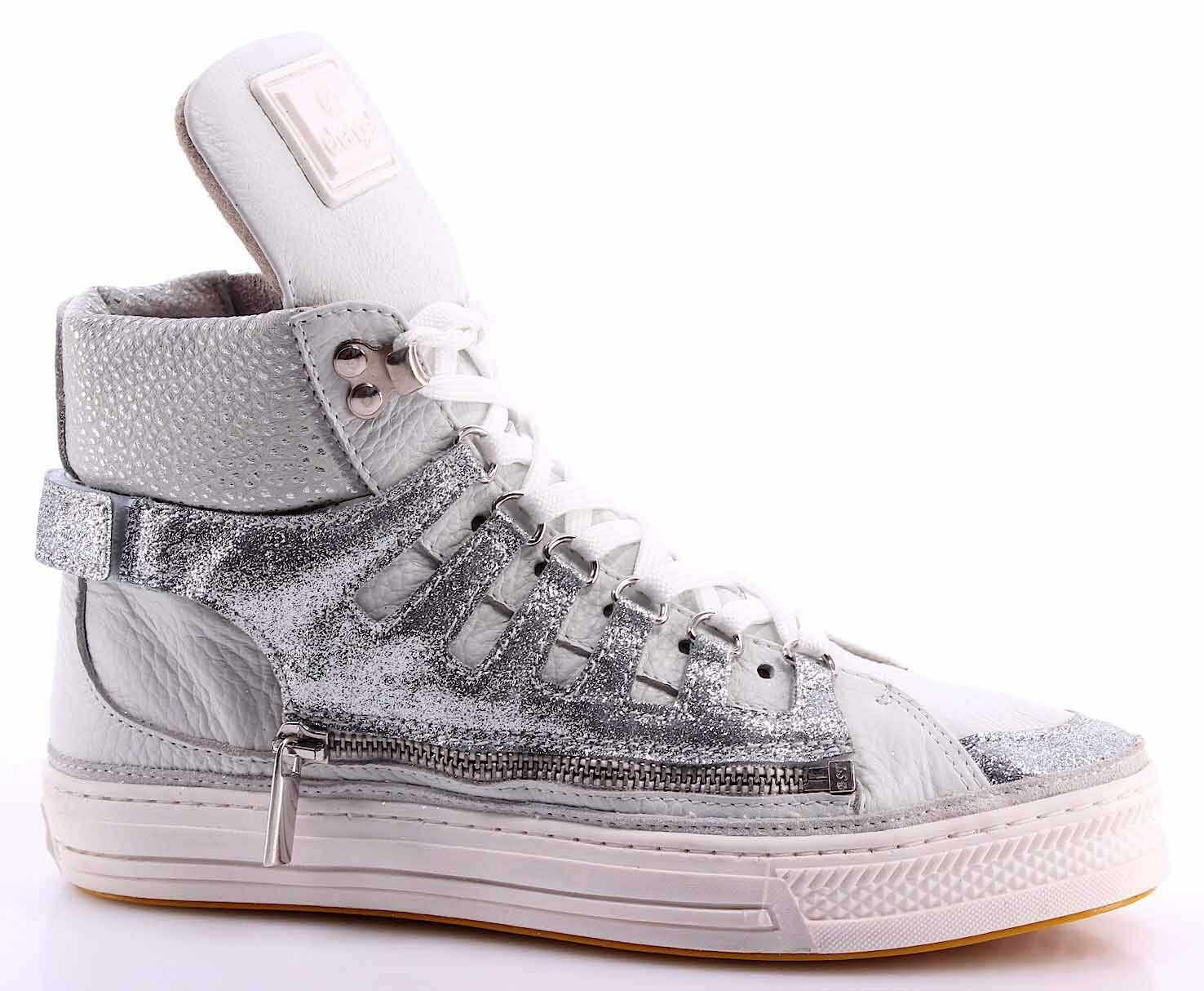 Chaussure Femme Sneakers Cheville CHANGE  MaxW Star Star Star silver Shock Bianco Made IT 8f4579