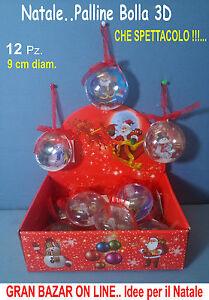 PALLINE-NATALE-DECORATE-BOLLA-3D-DECORAZIONI-ALBERO-12-Pz-PREZZO-STOCK-BOX