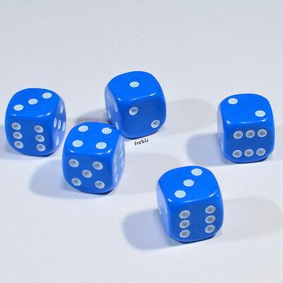 Augen Würfel Spielwürfel von Frobis 100 Stück 12mm Blaue Knobel Würfel
