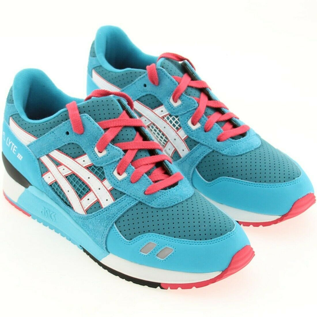 cbde80d7e sz 10.0 Gel-Lyte III 3 Teal Dragon red turquoise white US Size 10.0 ...