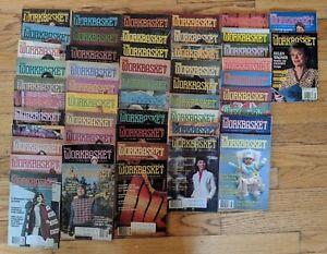 Lot-50-vintage-issues-The-Workbasket-1979-1983-Needlecraft-Craft-Magazine-80-81