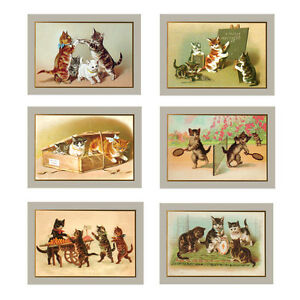36 victorian cat greeting cards for all occasions ec0016 ebay image is loading 36 victorian cat greeting cards for all occasions m4hsunfo