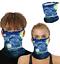 thumbnail 34 - Face Mask Covering Reusable Washable Breathable Bandana Gaiter Cover w Loops Ear