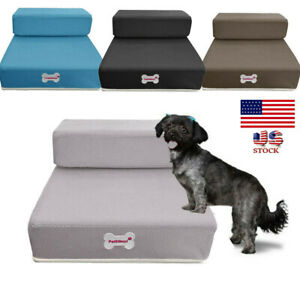 Foldable-Pet-Stairs-Dog-Cat-Breathable-Mesh-Foldable-Pet-Cat-Stairs-2-Steps-USA