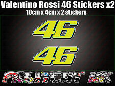 Valentino Rossi 46 Decal Sticker x2 Moto Racing laptop helmet bike car scooter C