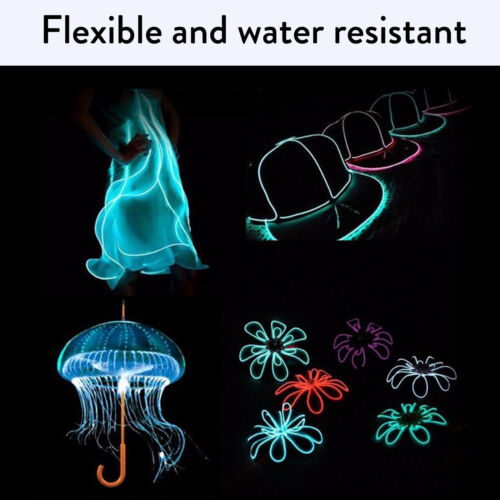 Flexible 2M 10M LED Neon Light Glow EL Wire Strip tube Rope Home Car Decor RK17