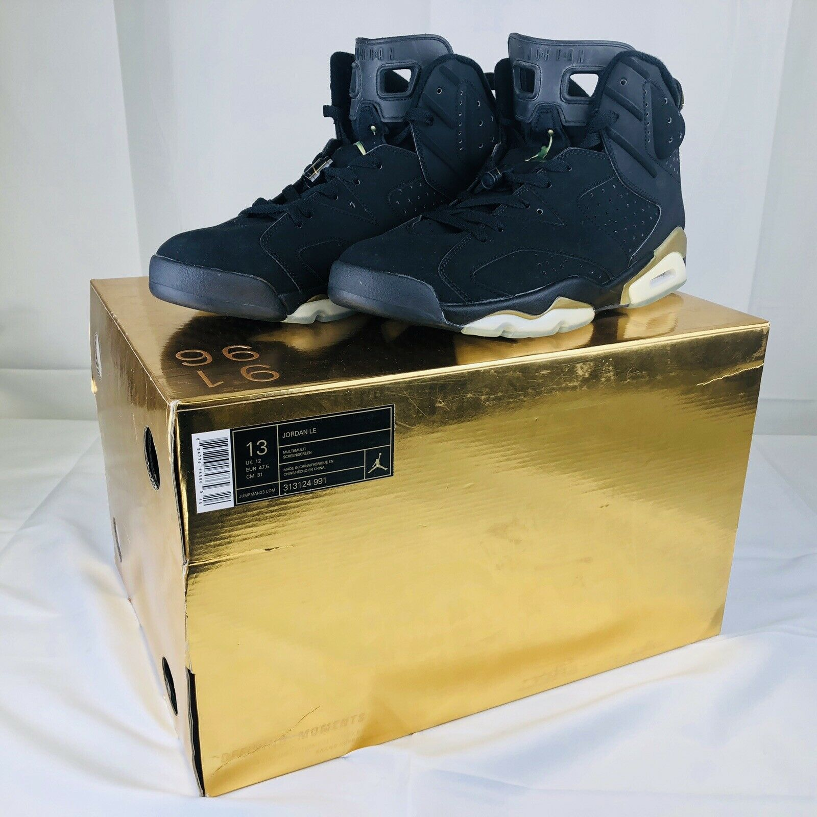 Nike Air Jordan VI 6 LE Limited Edition Defining Moments Pack 313124-991 SIZE 13