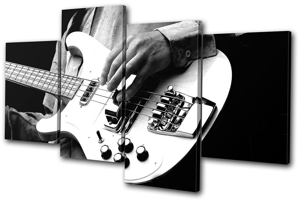 Musical Guitar INSTRUMENTS MULTI Leinwand Wand Kunst Bild drucken