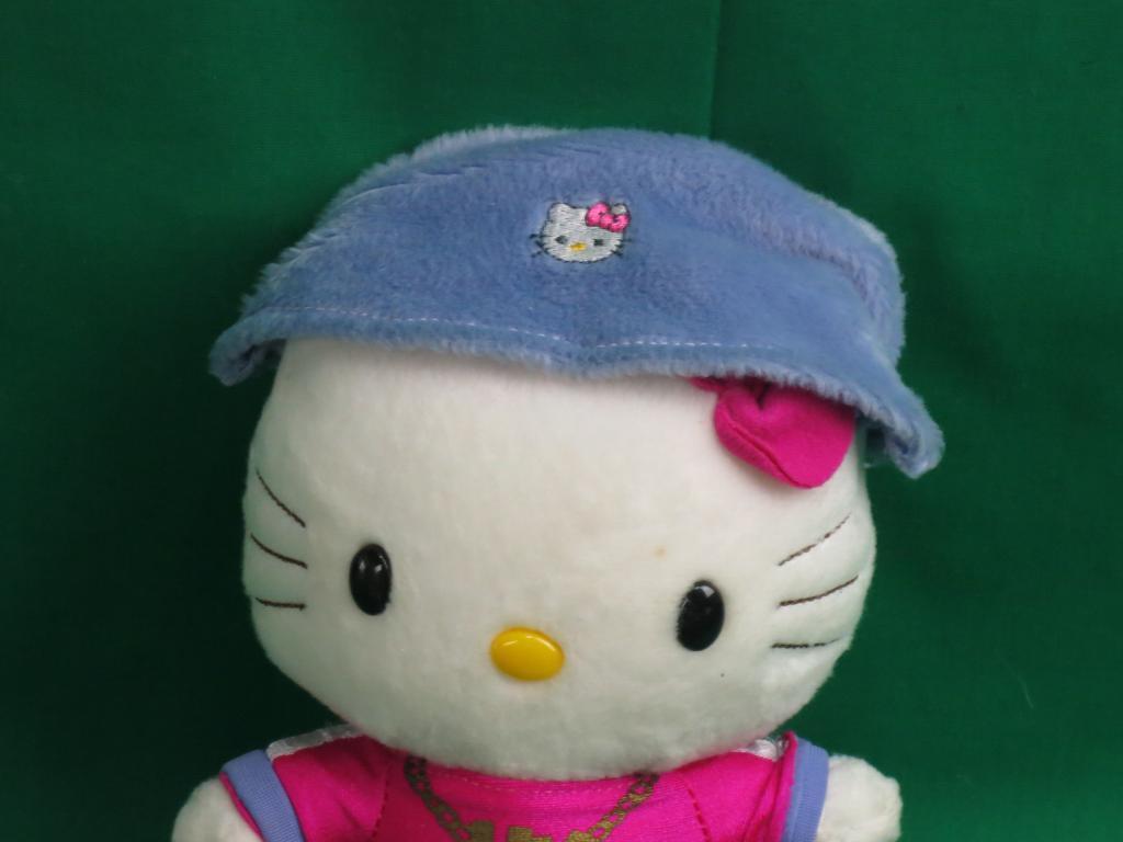 SANRIO NAKAJIMA HELLO KITTY HIP POP HOT Rosa lila HK PLUSH STUFFED DANCE JAPAN