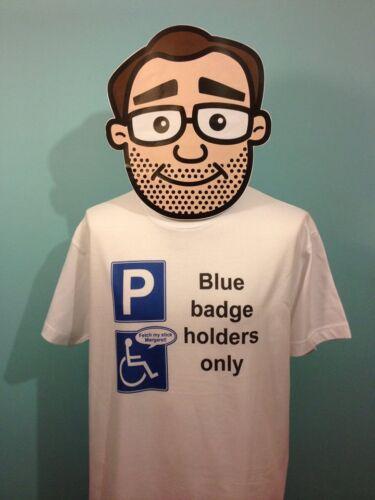 Blue Badge Abuser Funny T Shirt Half Man Half Biscuit