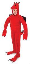 Adults Red Dragon Fancy Dress Onesie Costume St David Welsh Mascot