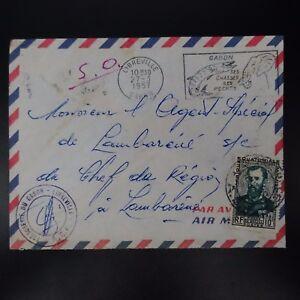 GABON-LETTERA-COVER-LIBREVILLE-CAD-1957-gt-AGENTE-SPECIALE-CAPO-DI-REGION