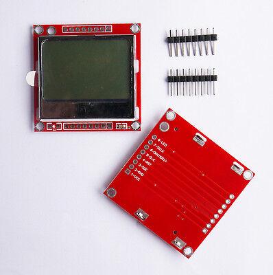 1Pcs 84x48 Nokia Blue Backlight LCD Module Adapter PCB Nokia 5110 LCD Arduino pp