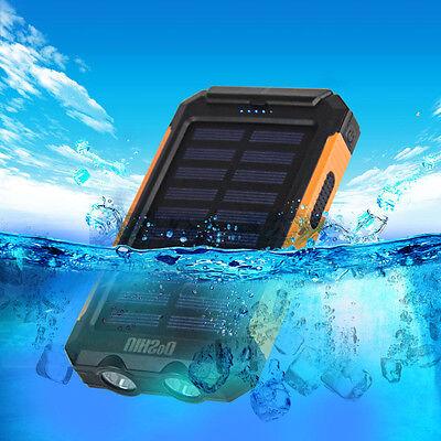 Wasserdicht 50000mah Solar Panel 2 USB 2 LED Externes Akku-Ladegerät Power Bank