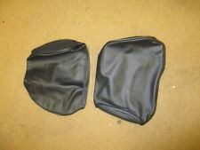 MG MGB GT Midget leather headrest covers  pair black pear shaped 1976 on
