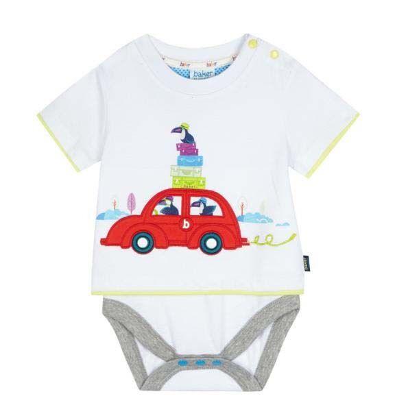 3c3b446b5e927c Ted Baker Baby Boys Vest Romper Bodysuit Car White DESIGNER Gift Newborn