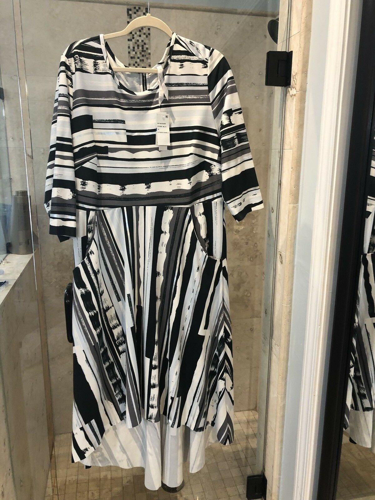 Nwt New Melissa McCarthy Seven7 Plus High Low Maxi Dress,  1X Formal Holiday