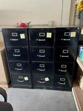 Hon Filing Cabinet Black 4 Drawer 15x25x52 Good Condition